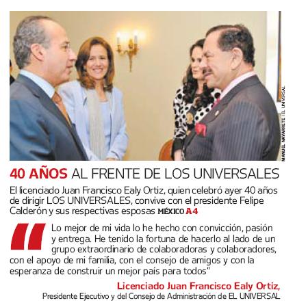 Fragmento de la portada de El Universal del 24 de octubre de 2009.