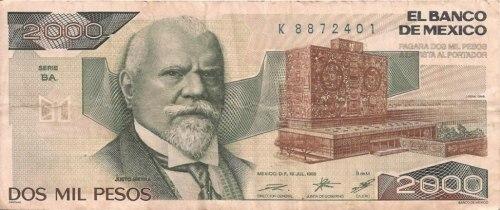Billete_2000 pesos_1985