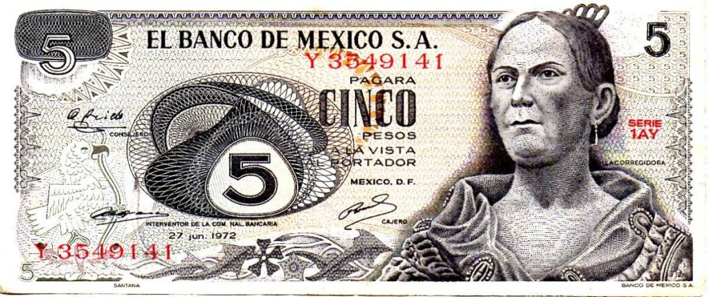 Billete_5 pesos_Corregidora