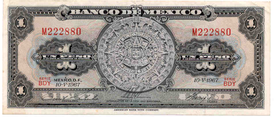 Billete_1 peso_calendario