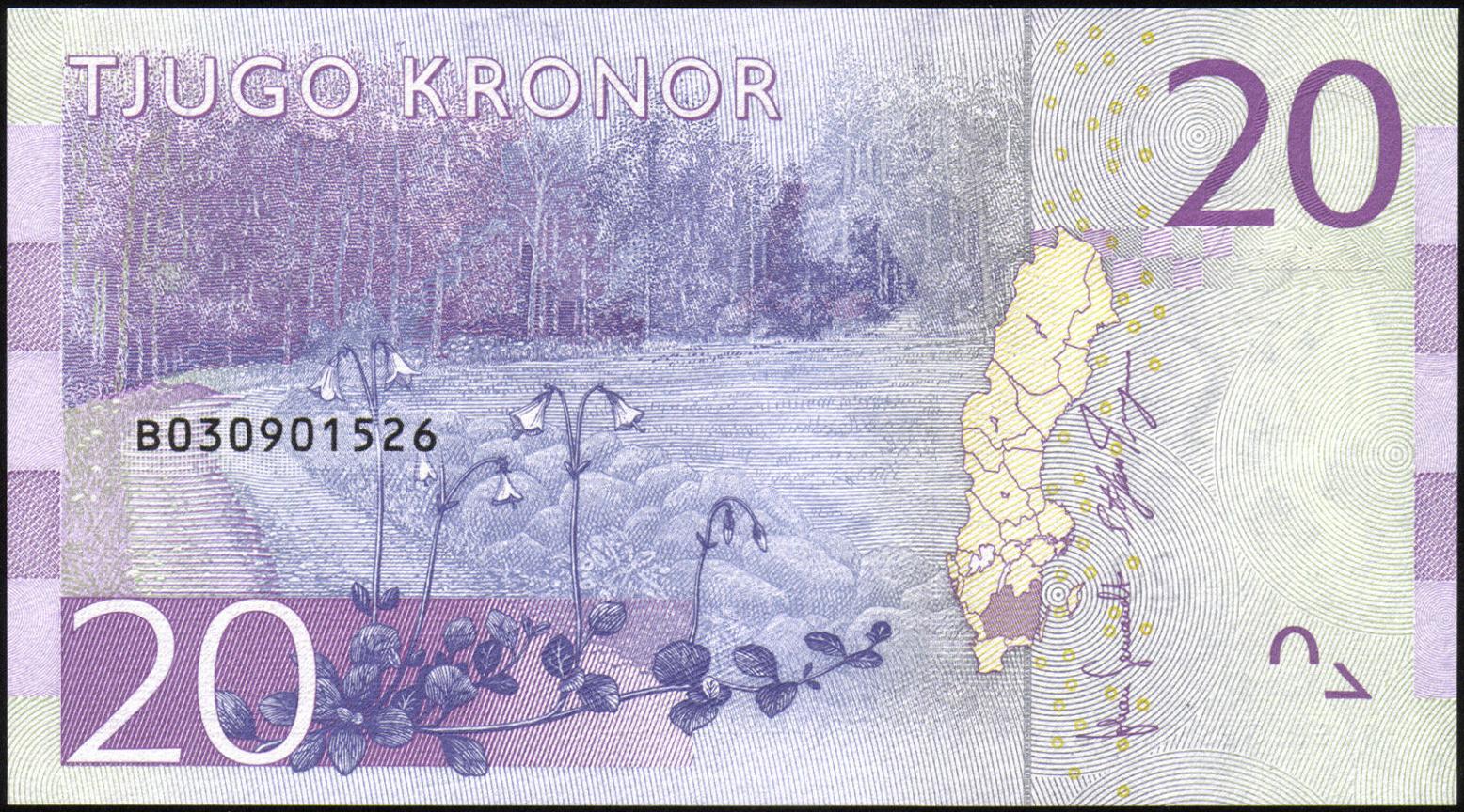 Sweden 20 Krona banknote 2015